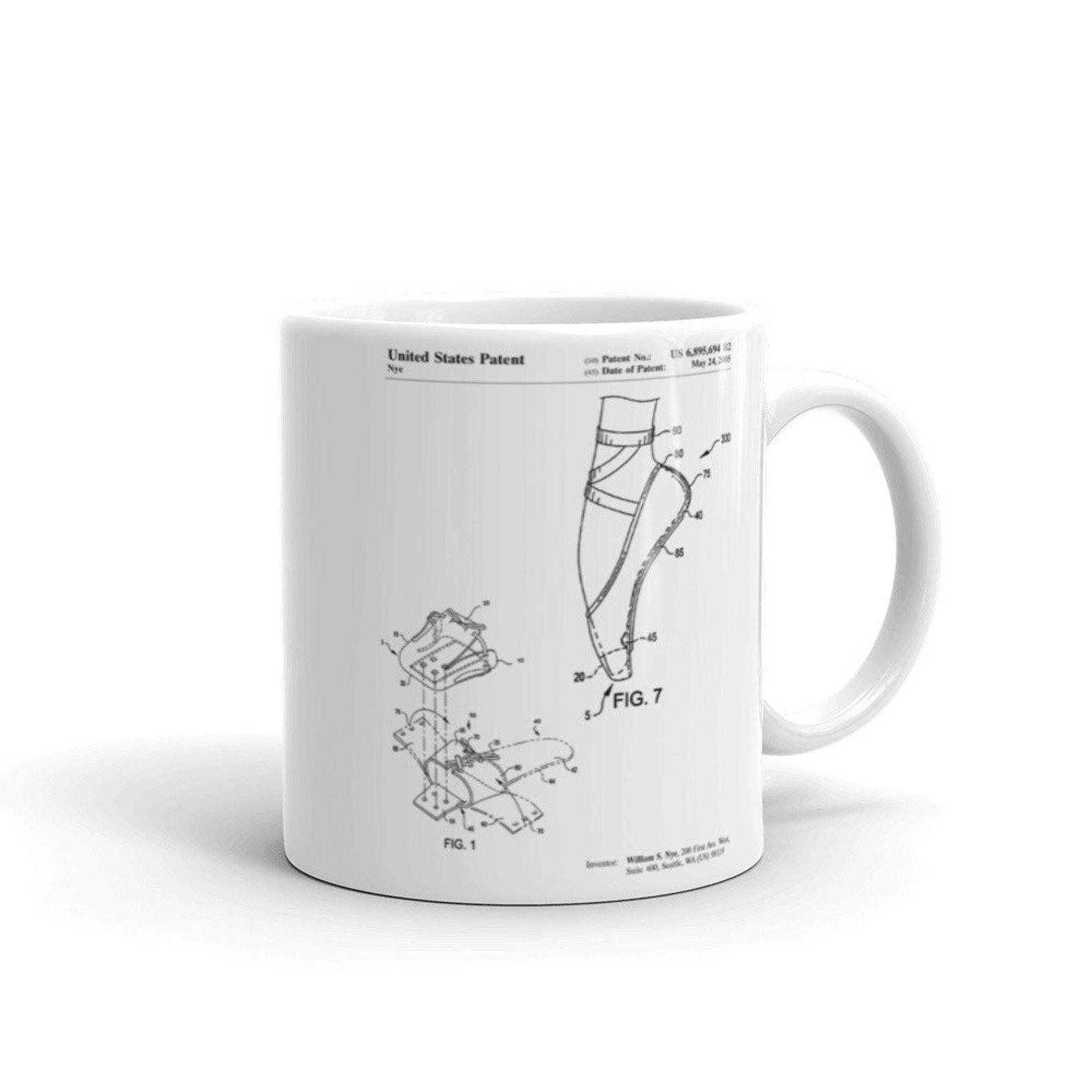 ballet shoe patent mug, ballet slippers, dance studio, ballerina gift, ballerina mug, unique gift idea