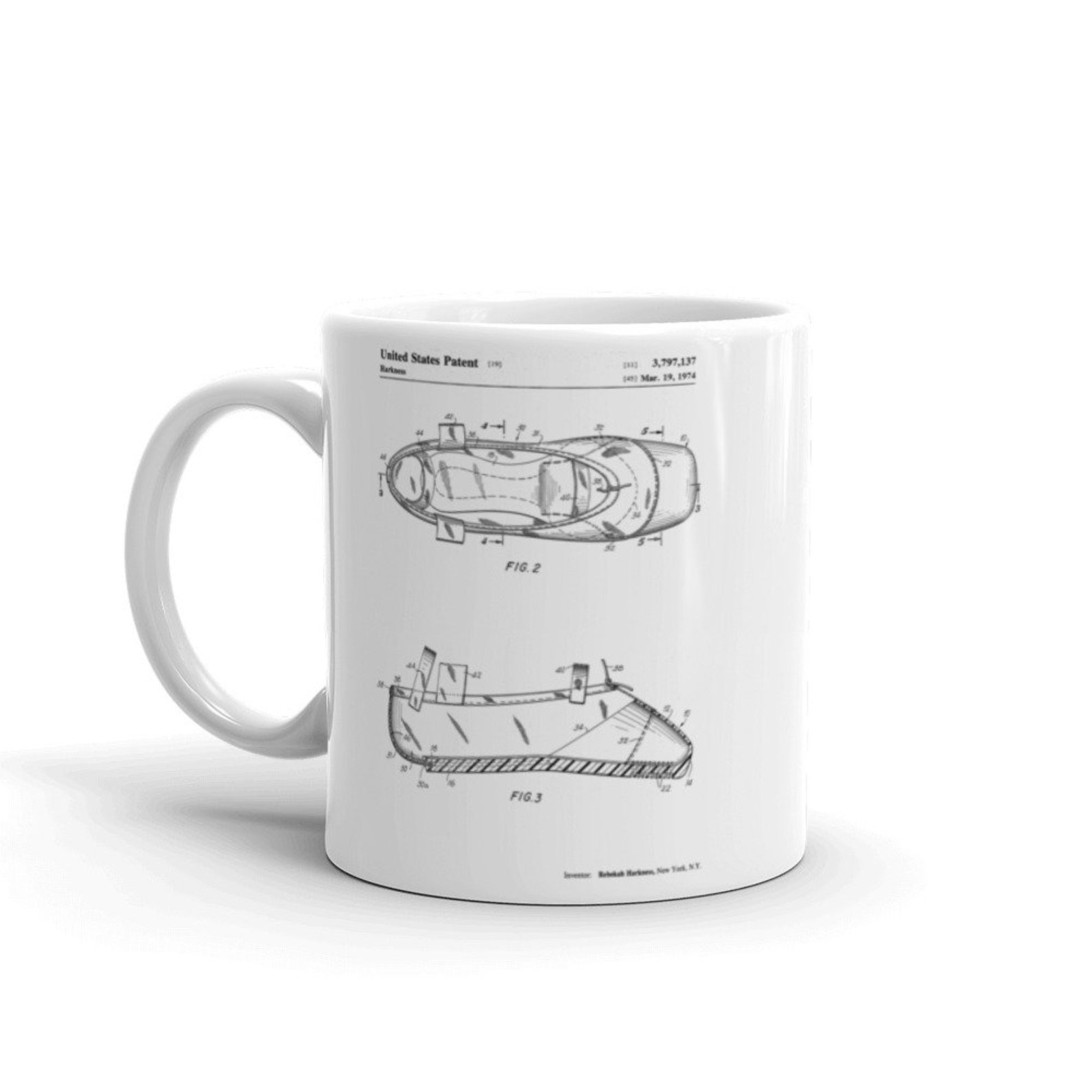 ballet slipper patent mug, ballerina gift, dance studio, ballet shoe, ballerina mug, unique gift idea