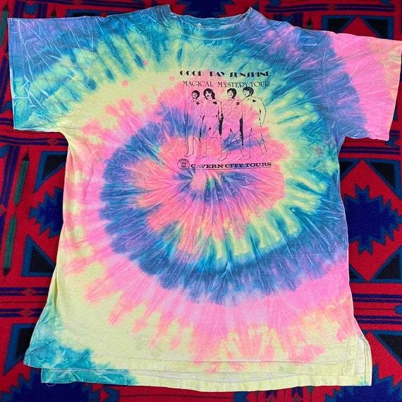 RARE The Beatles Single Stitch Tie dye