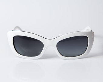 9e9341697 Vintage COCO Chanel style sunglasses cateye shape white color