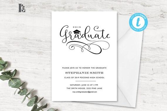 Graduation Invitation Template Invite Party