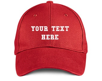 Custom Made EMBROIDERED Personalized COLLEGE Red Baseball Hat Cap Embroidery  Trucker 6 Panel High Quality Cotton Great Gift 3f810bcf9a17