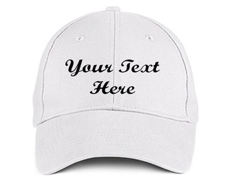 Custom Made EMBROIDERED Personalized Script White Baseball Hat Cap  Embroidery Trucker IMPACT 6 Panel High Quality Cotton Great Gift 2c5d39d14c82