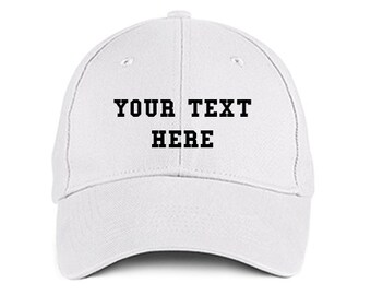 4e9f057a6df Custom Made EMBROIDERED Personalized COLLEGE White Baseball Hat Cap  Embroidery Trucker 6 Panel High Quality Cotton Great Gift