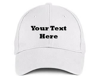 Custom Made EMBROIDERED Personalized Rockwell White Baseball Hat Cap  Embroidery Trucker IMPACT 6 Panel High Quality Cotton Great Gift 656975ef1da0