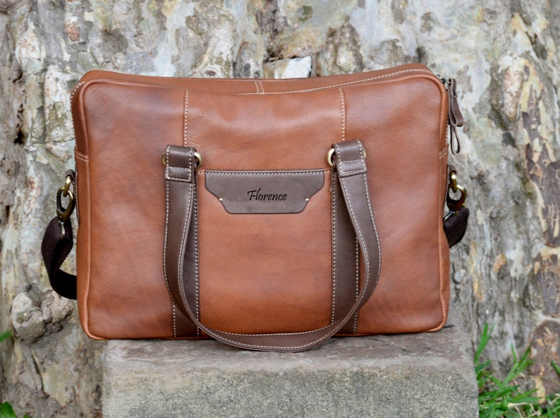 Brown Vintage Style Handcrafted Leather Satchel Messenger Laptop Shoulder Bag