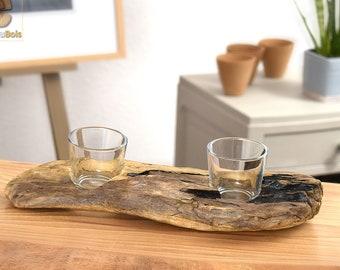 Driftwood candlestick
