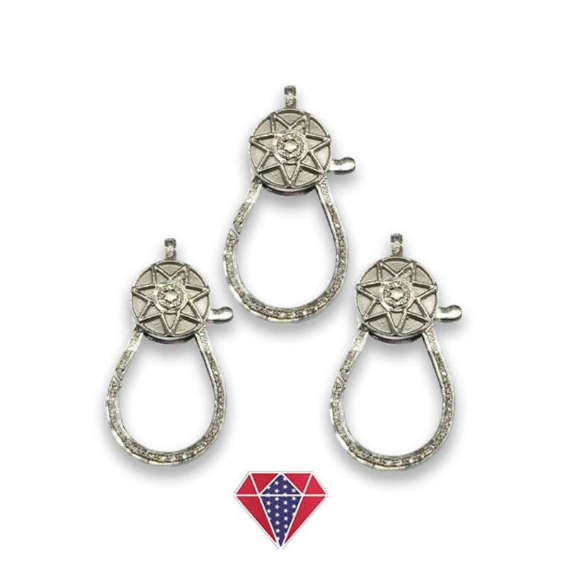PaveClasp,Lobster Pave diamond clasp lobster,Pave Diamond Clasp with splendid rose cut diamonds  CD-BGL288-EDJ Pave Diamond Clasp