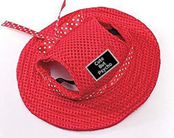 Dog Hat: Sun Hat (multiple colors) With Several Patch Choices
