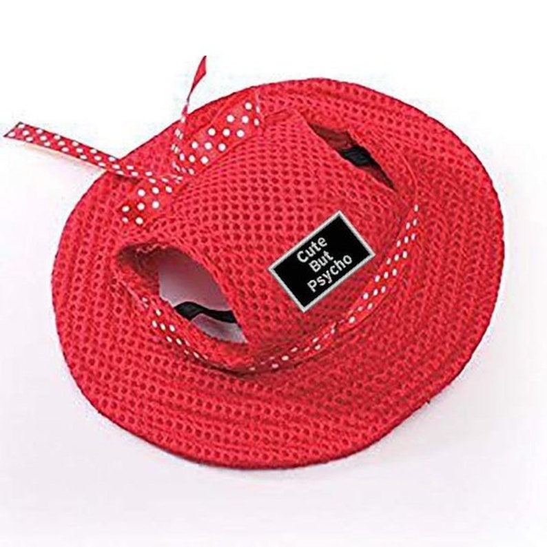 Dog Hat: Sun Hat multiple colors With Several Patch Choices image 0