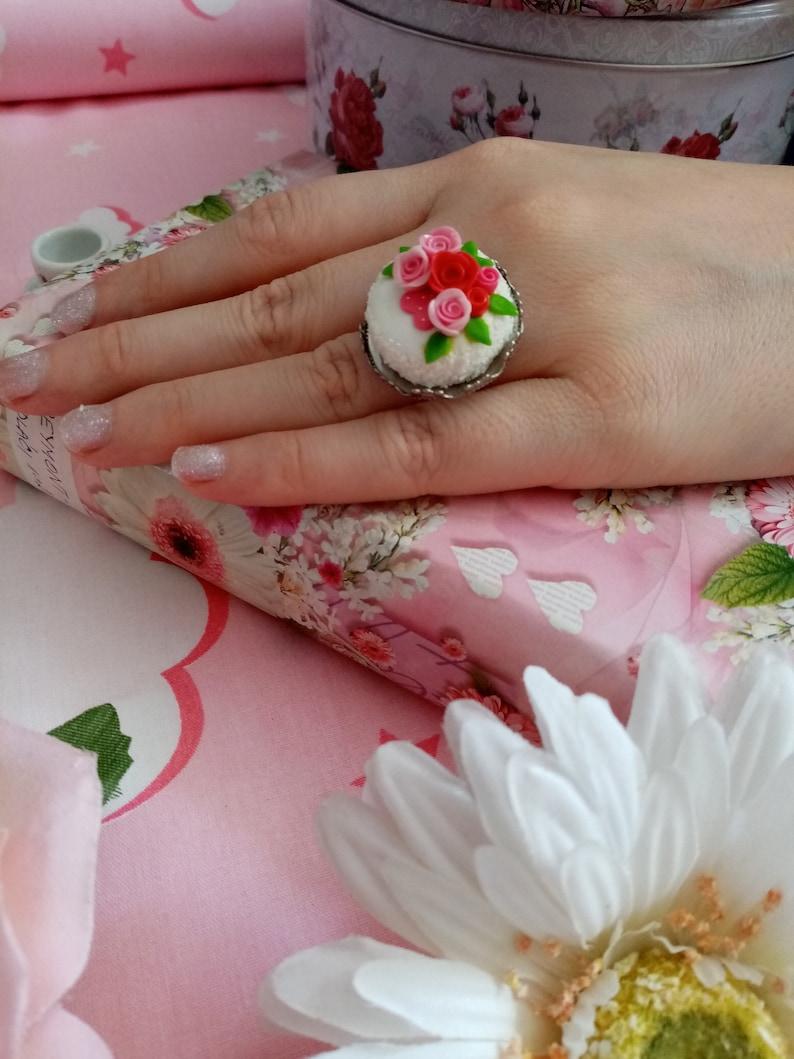 Lolita Sweet Cake Rings Kawaii Fairy kei Jfashion Harajuku