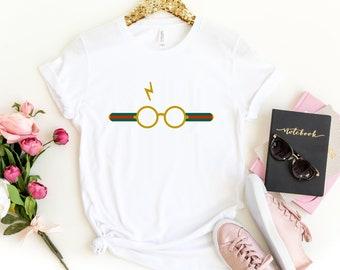 fb225abb Harry Potter Shirt, Harry Potter Inspired Womens TShirt, Hufflepuff tshirt,  Hogwarts T-shirt, Gryffindor Shirt, Gucci Shirt, Gucci Top Tee