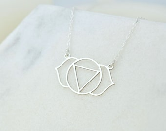 Chakra Necklace Ajna Necklace Initial Necklace Personalized Necklace  Letter Necklace Third Eye Necklace Third Eye Chakra