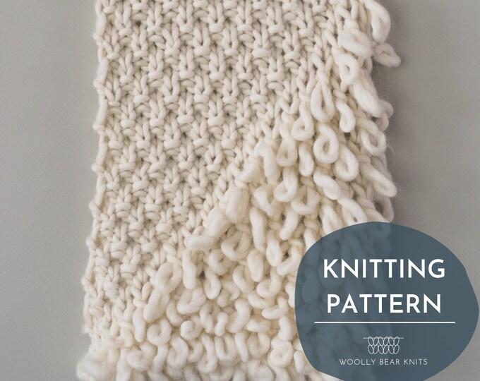 KNITTING PATTERN: Scandia Wall Hanging | Knit Wall Hanging Pattern | Boho Knit Wall Hanging Pattern | Easy Home Decor Knitting Pattern