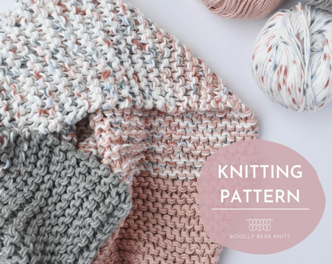 KNITTING PATTERN: Seachange Baby Blanket Pattern | Knit Baby Blanket Pattern