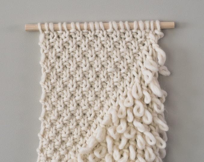 Knit Wall Hanging   Loop Texture Wall Decor   Knit Wall Decor   Boho Wall Decor