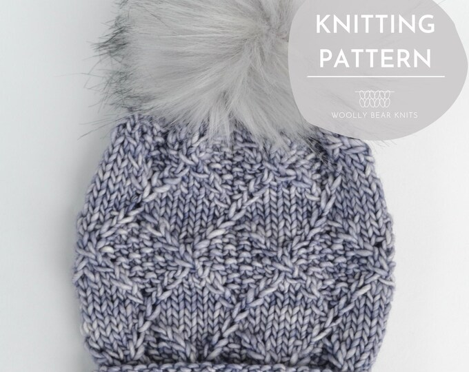 KNITTING PATTERN: North Loop Beanie | Cable Knit Hat Pattern | Bulky Yarn Knitting Pattern