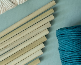 "Wooden Dowel 14"" Length 1/2"" diameter | Wooden Dowel for Macrame, Weaving, Wall Hanging | Macrame and Weaving Tool | Natural Wood Dowel"