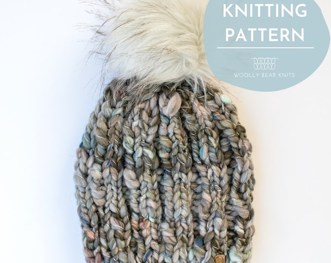 KNITTING PATTERN: Lakeaires Toque | Easy Super Bulky Yarn Hat Knitting Pattern