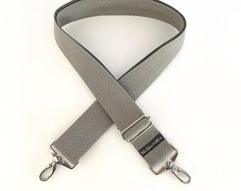 Shoulder strap| Interchangeable belt| Pocket straps| Colorful pocket strap|  Webbing for changing: herringbone grey wide