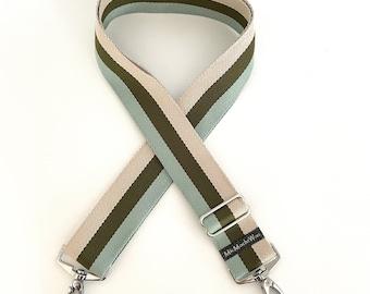 Shoulder strap| Interchangeable belt| Pocket straps| Colorful pocket strap|  Webbing to change: Stripe natural olive wide