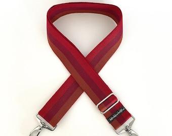 Shoulder strap| Interchangeable belt| Pocket straps| Colorful pocket strap|  Webbing to change: Stripe red tones wide