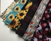 Large Neck Shoulder rice pack, reusable-microwavable rice heating pad- Seasonal Holiday prints (while supplies last)