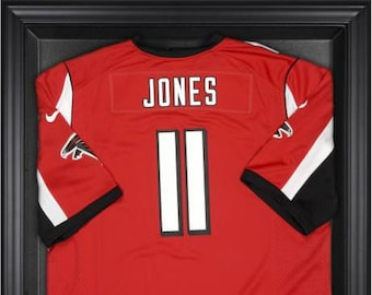 91336833 Atlanta Falcons Framed Jersey Display Case
