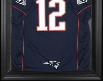 c1922983d New England Patriots Logo Framed Jersey Display Case - Black Frame