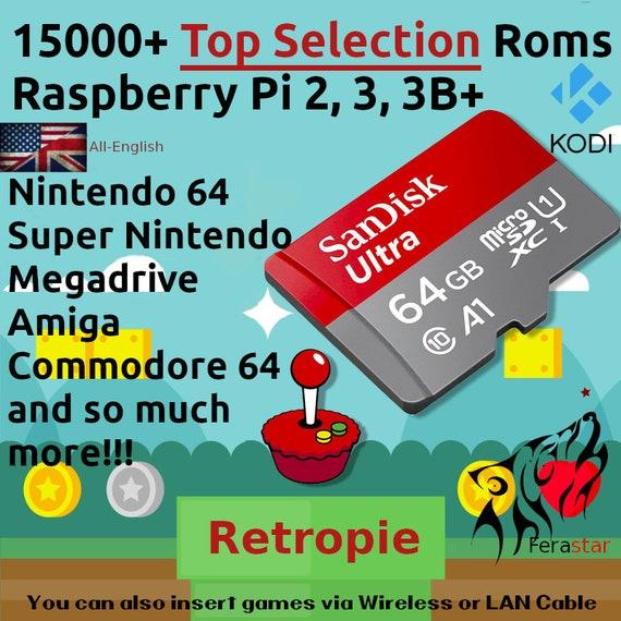 Top Selection 2019 - (RetroPie + Kodi) Sd Card Raspberry Pi 2, 3, 3B+