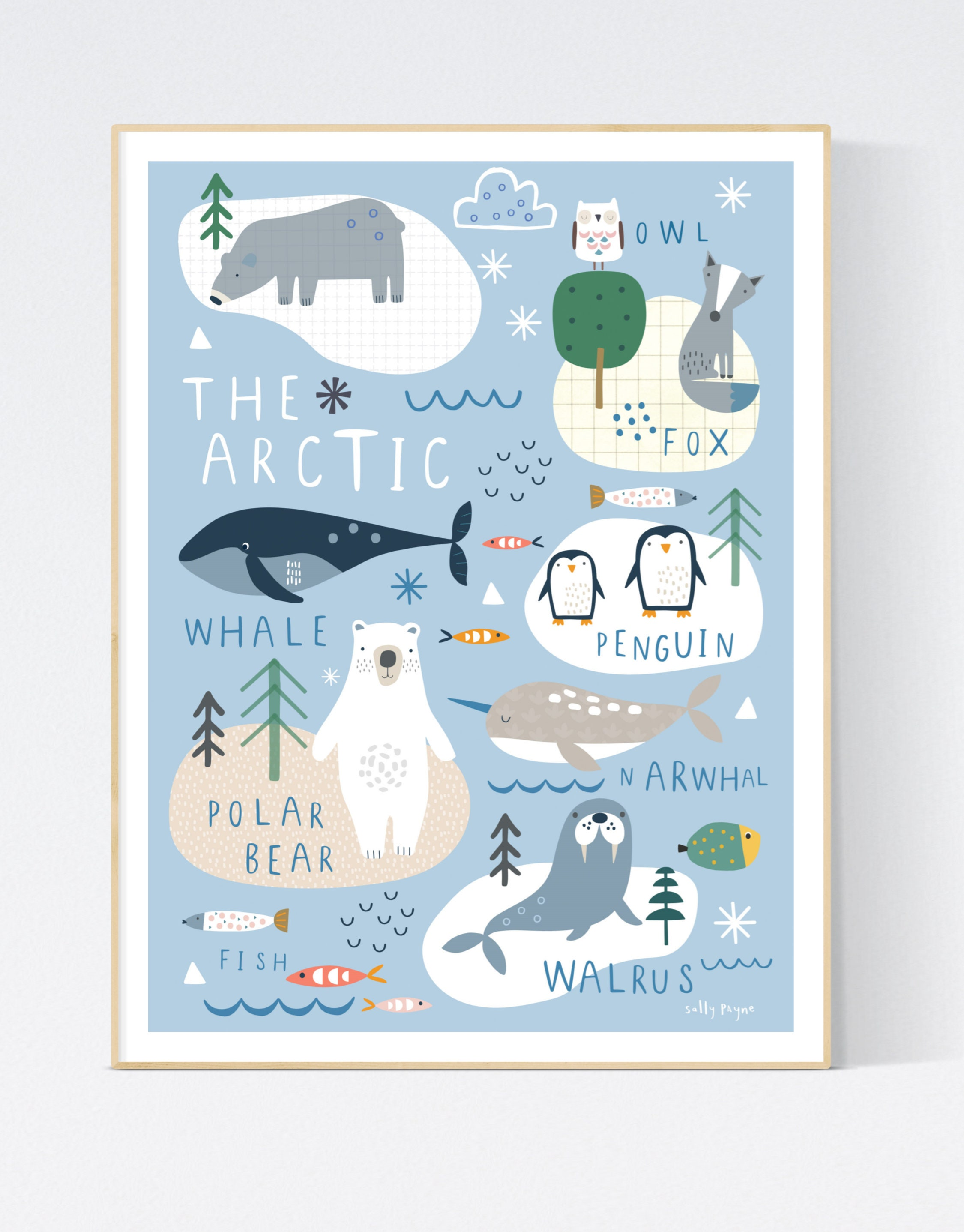 Arctic  Wall art -  wall art -  Children's prints -  Children's wall art - Children's Illustration