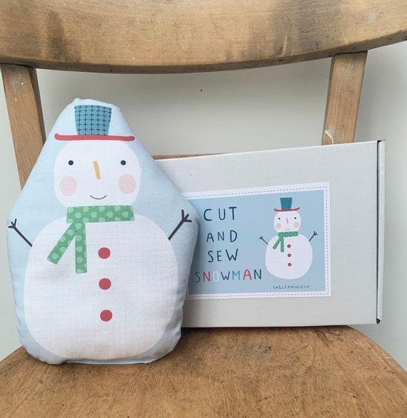 Cut and sew snowman plush kit