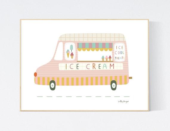 Ice cream van  wall art