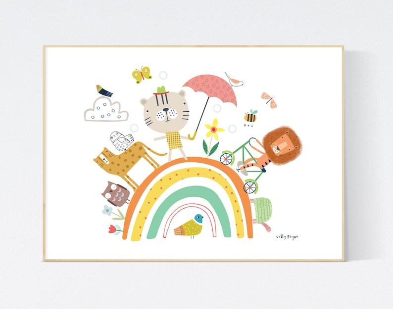 Animal rainbow Wall art   wall art   Wall prints  image 0