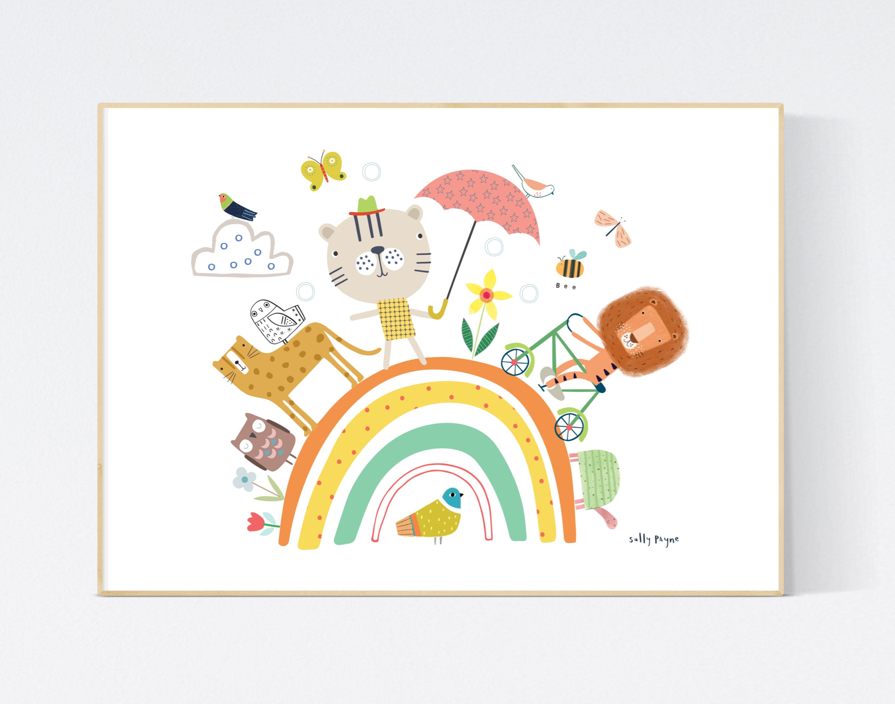 Animal rainbow Wall art -  wall art -  Wall prints - Children's wall art
