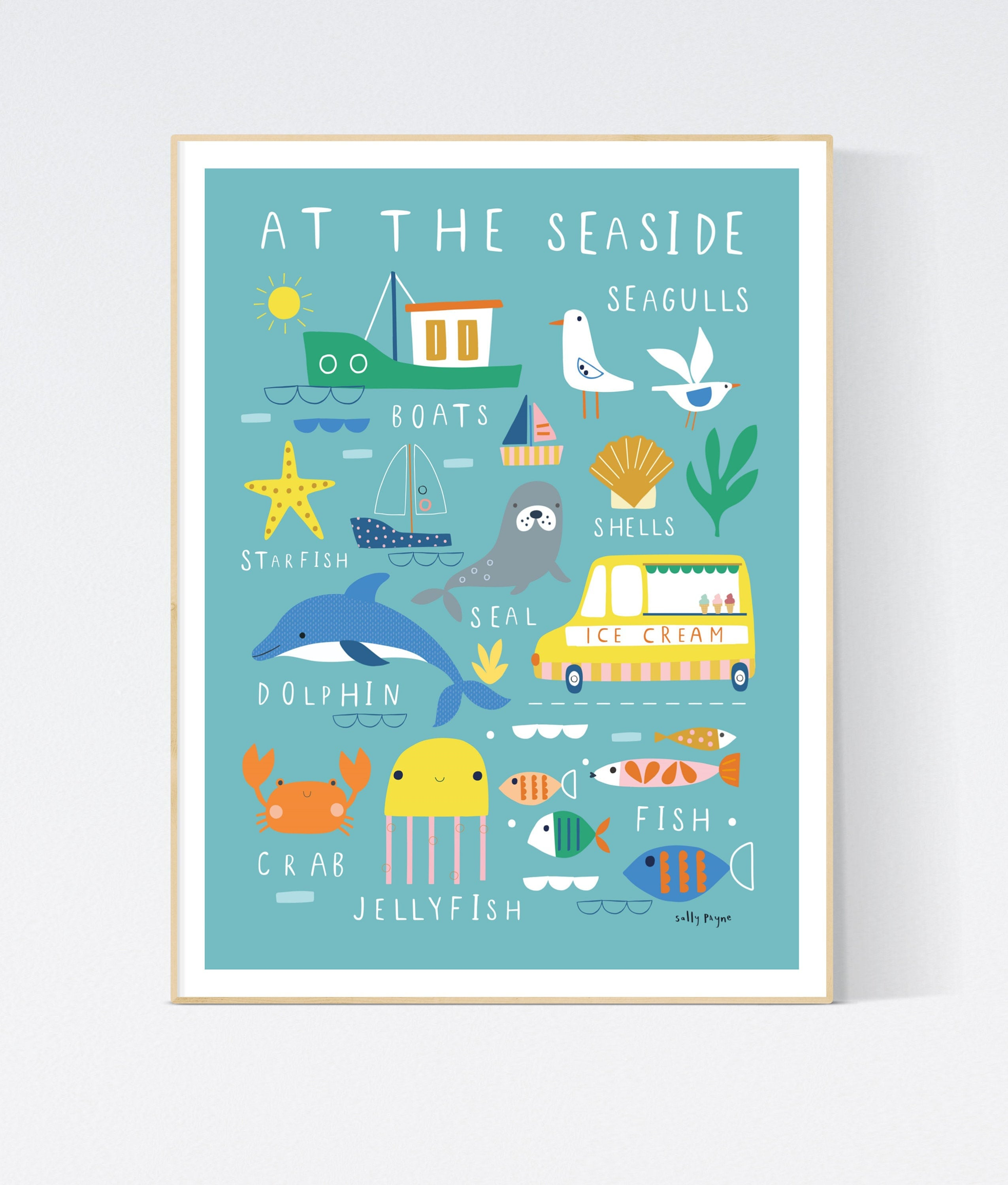 At the seaside -  wall art -  Children's prints -  Children's wall art - Children's Illustration
