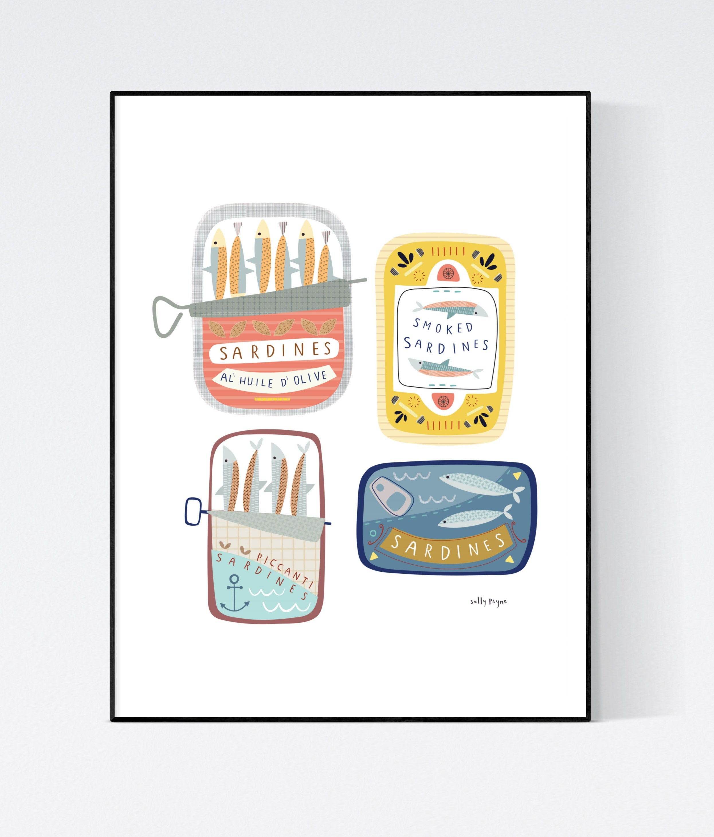 Sardine Wall art -  wall art -  Wall prints - Kitchen wall art