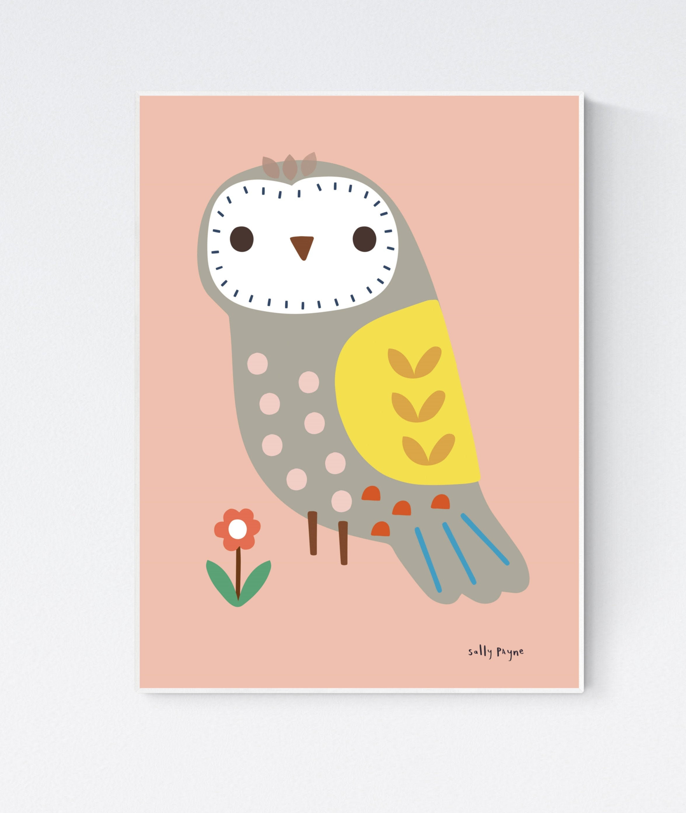 Owl Wall art -  wall art -  Wall prints - Children's wall art