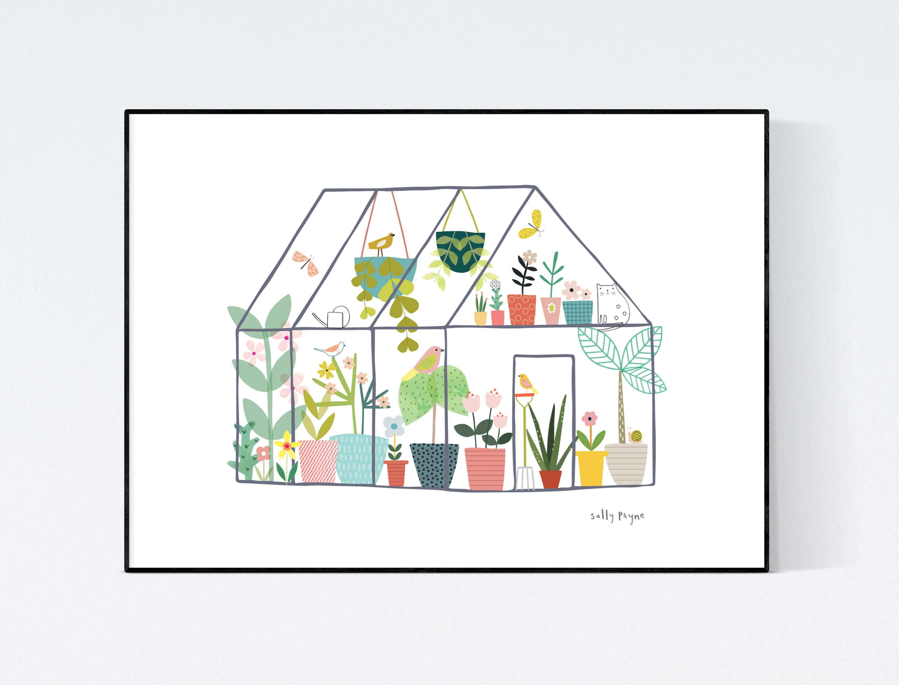 Greenhouse Wall art -  wall art -  Wall prints - Plant wall art