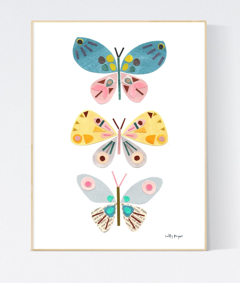 Butterfly Wall art   wall art   Wall prints  Children's image 0