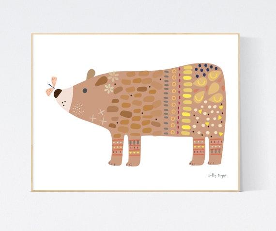 Bear print wall art