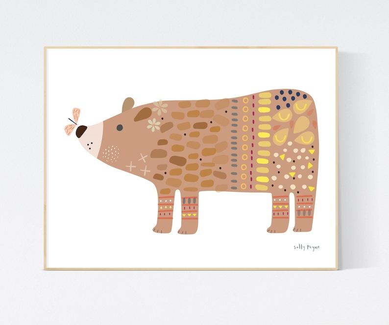 Bear print Wall art   wall art   Children's prints  image 0