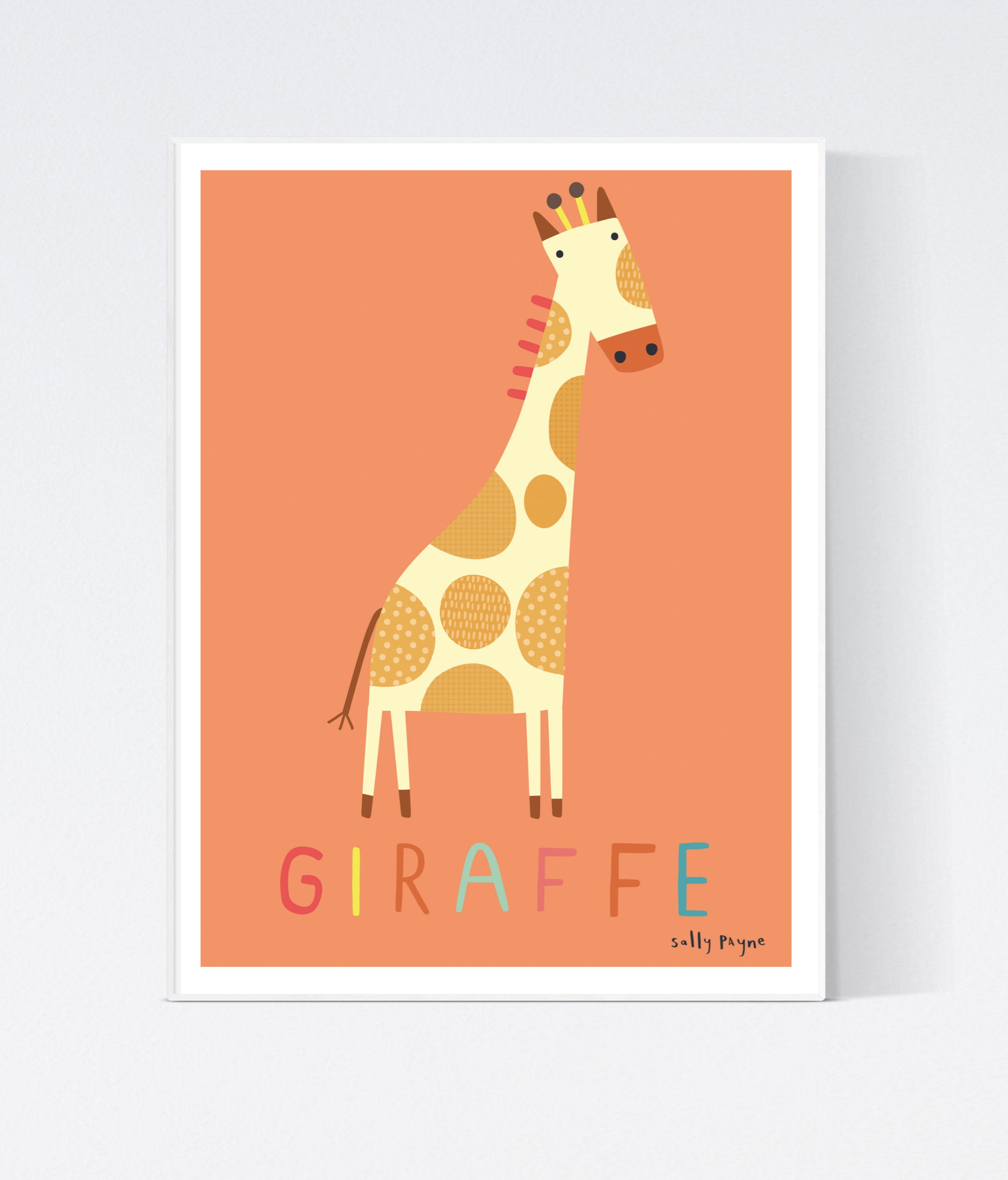 Giraffe  Wall art -  wall art -  Children's prints -  Children's wall art - Children's Illustration