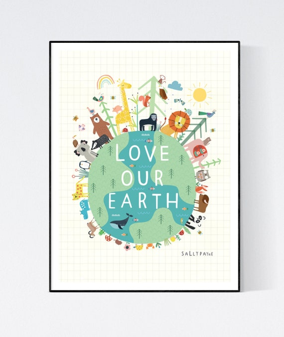 Love our earth wall art