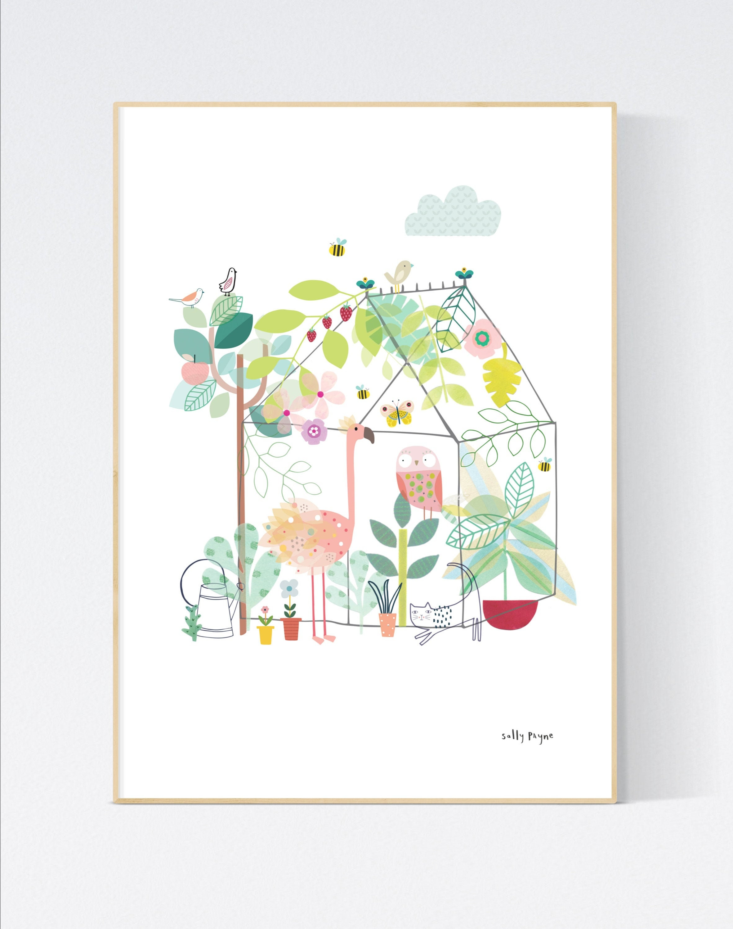 Animal greenhouse Wall art -  wall art -  Wall prints - Children's wall art