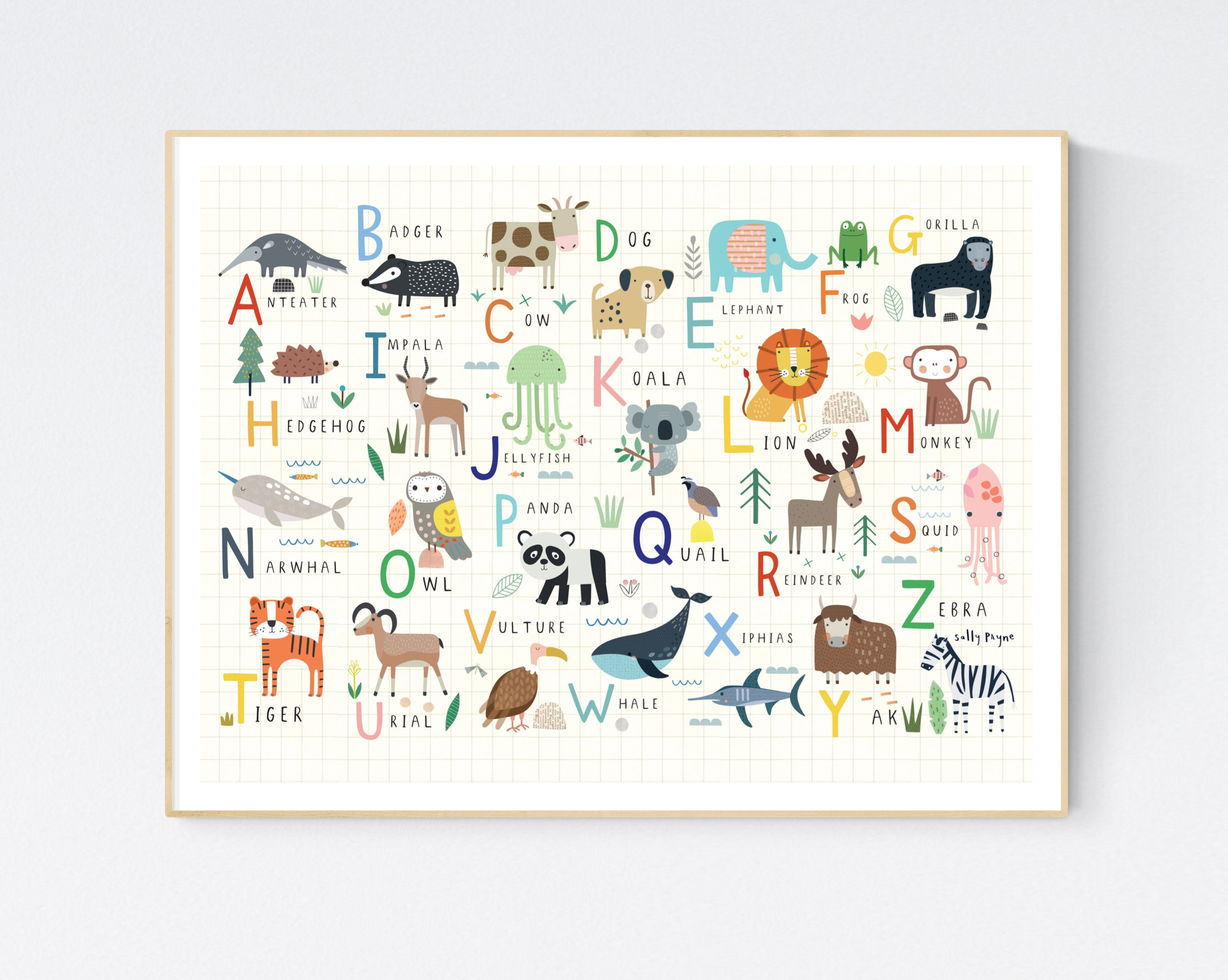Animal alphabet-  wall art -  Children's prints -  Children's wall art - Nursery wall art