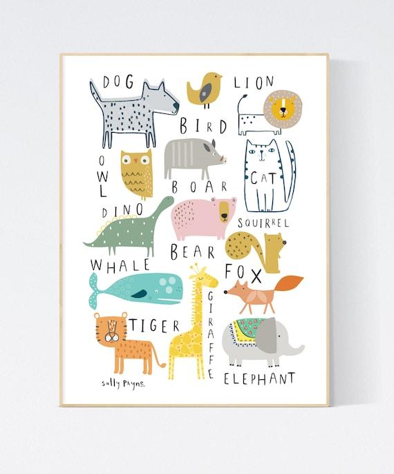 Animal print wall art