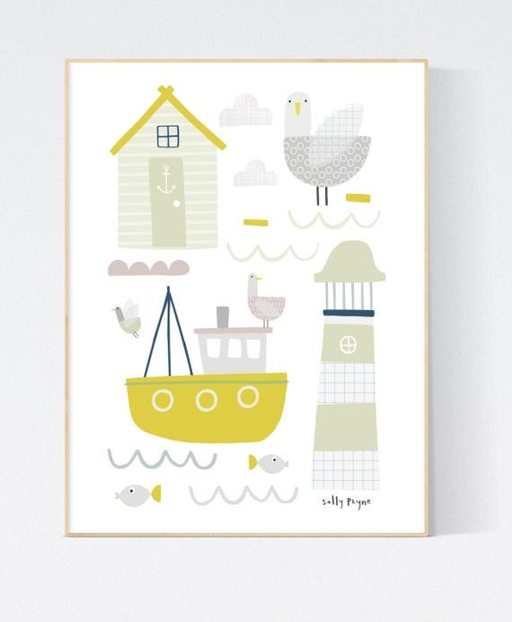 Nautical print wall art