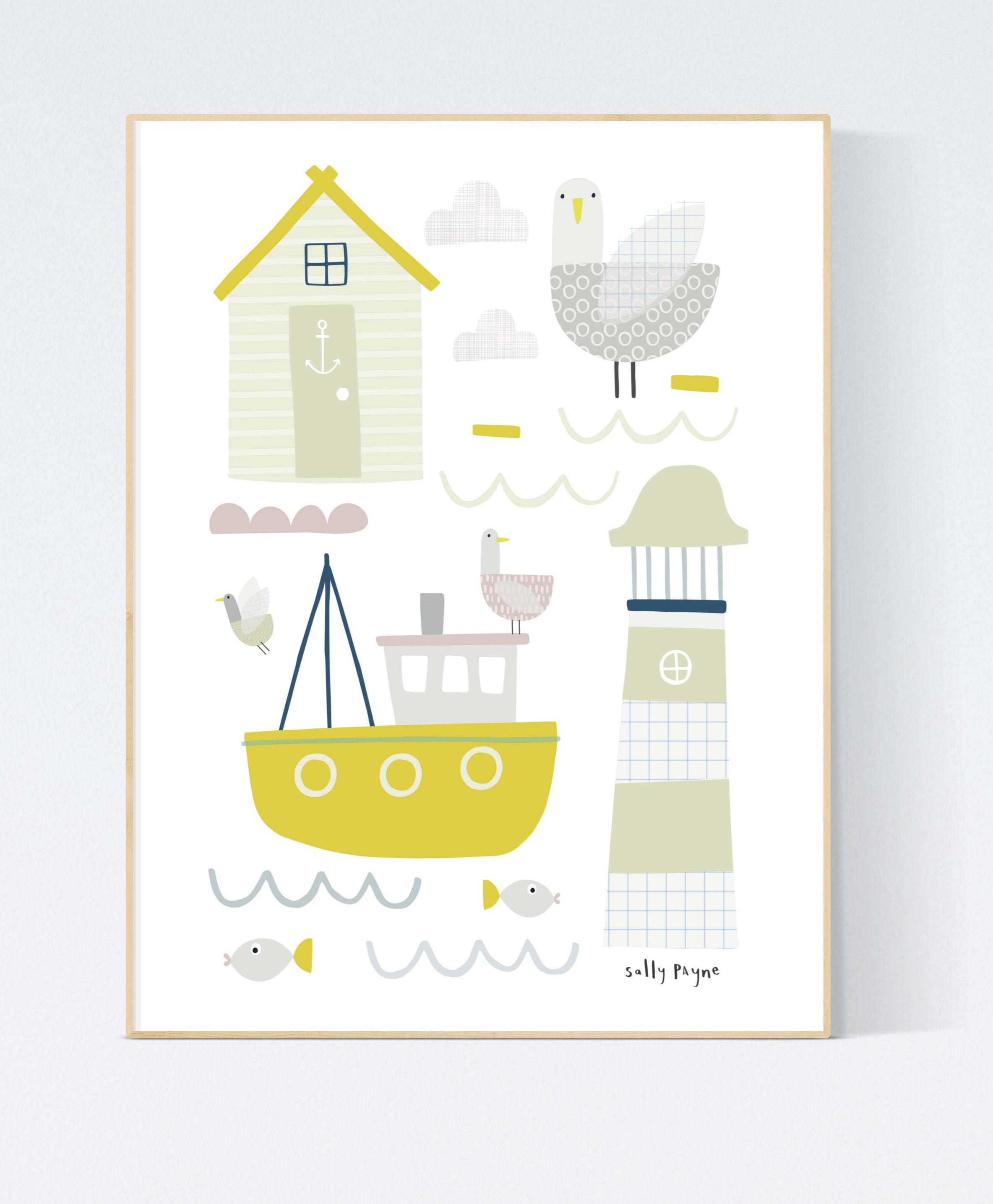 Nautical print Wall art -  wall art -  Children's prints -  Children's wall art - Children's Illustration