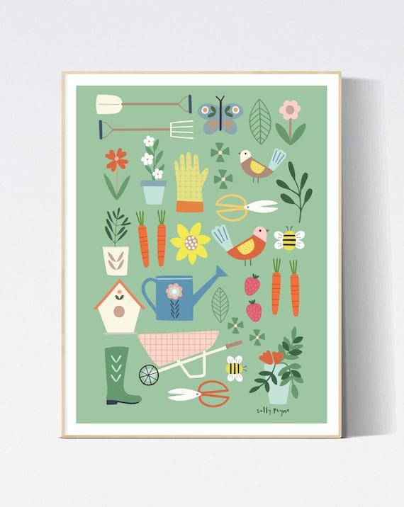Gardening wall print